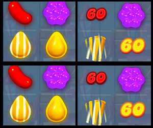 Speciale combinaties in Candy Crush Saga